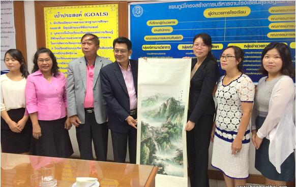 普吉汉语文化推广中心与素叻披他耶学校洽谈共建教学点项目