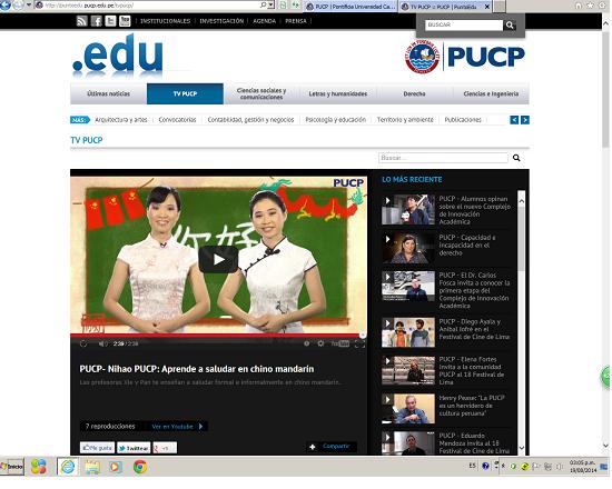 《Ni hao,PUCP!》汉语教学视频在秘鲁天主教大学开播
