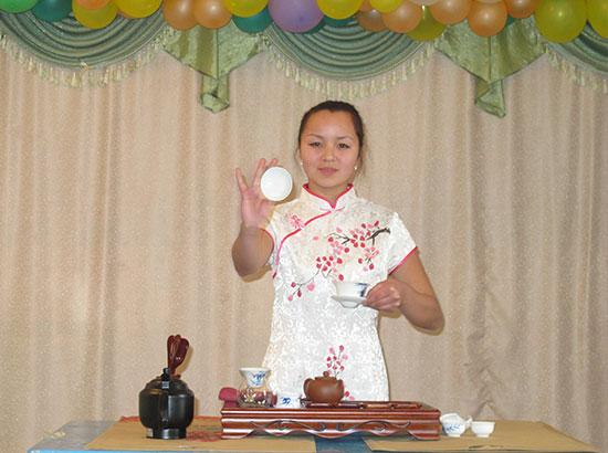 比什凯克人文大学孔子学院下设汉语教学点举行成立典礼