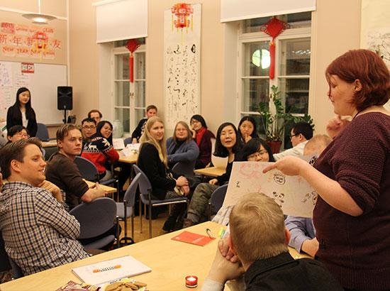 芬兰赫尔辛基大学孔子学院举办首期中华传统文化体验活动