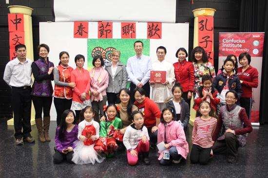 加拿大圣凯瑟琳市中文学校欢庆中国羊年新春