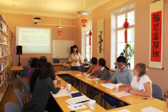 芬兰赫尔辛基大学孔子学院举办2015年新任汉语教师培训会