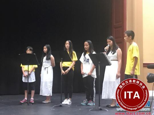 营员们合唱《茉莉花》。 江苏省侨办 摄